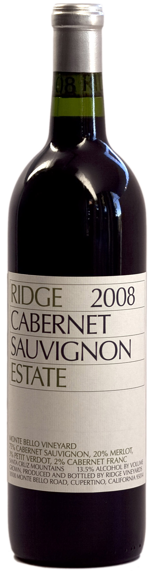 Ridge Estate Cabernet Sauvignon 2008