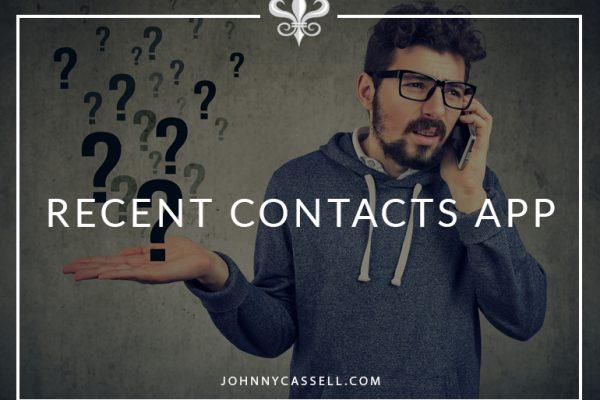 Recent Contacts App